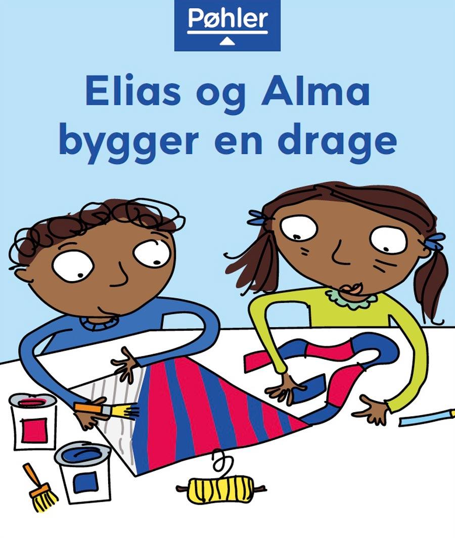 Elias og Alma bygger en drage forside
