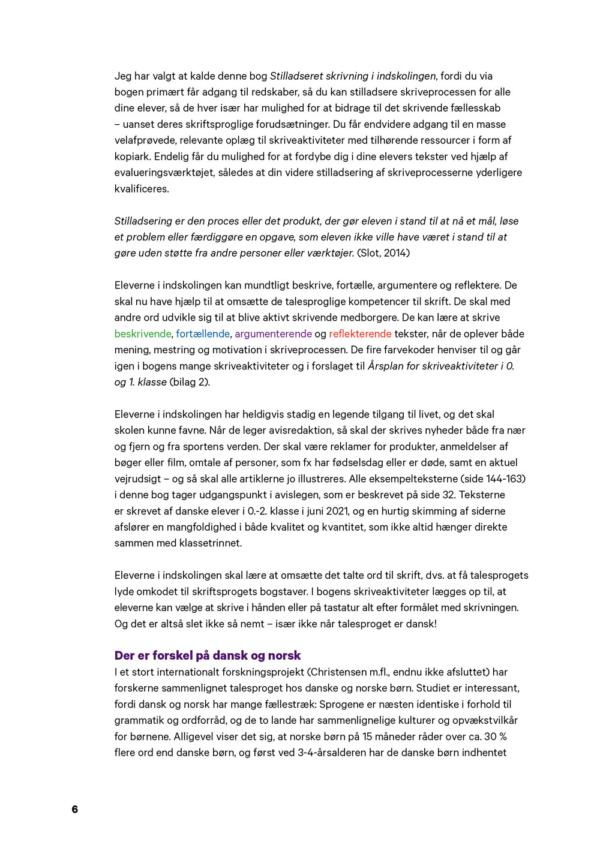 Stilladseret skrivning - forord 2